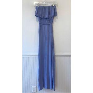 {F21} Lilac Strapless Ruffle Maxi Dress